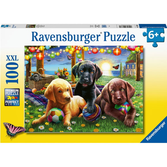 Ravensburger Puppy Picnic 100pc-RB12886-0-Animal Kingdoms Toy Store