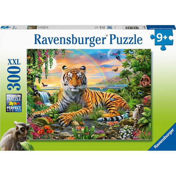Ravensburger Tiger at Sunset 300pc-RB12896-9-Animal Kingdoms Toy Store
