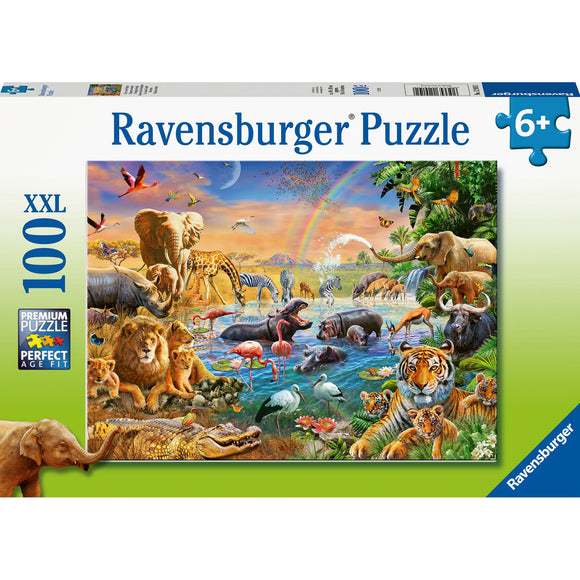 Ravensburger Savannah Jungle Waterhole 100pc - AnimalKingdoms.co.nz