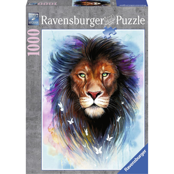 Ravensburger Majestic Lion Puzzle 1000pc-RB13981-1-Animal Kingdoms Toy Store