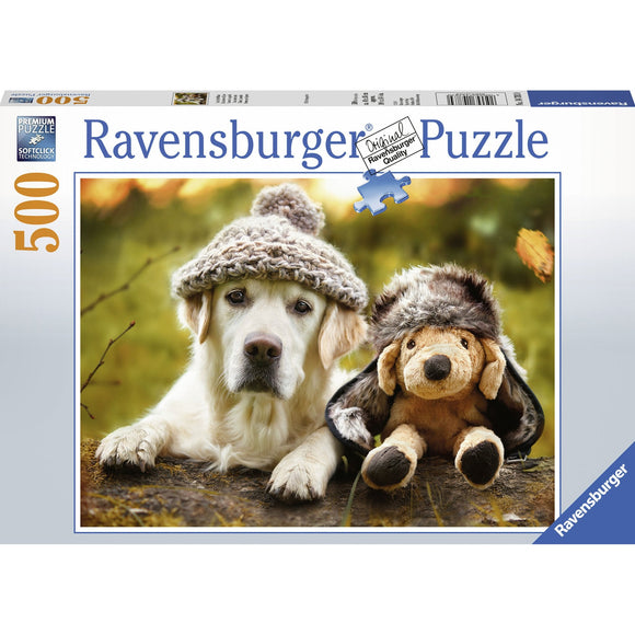 Ravensburger Winter Labrador Puzzle 500pc-RB14783-0-Animal Kingdoms Toy Store
