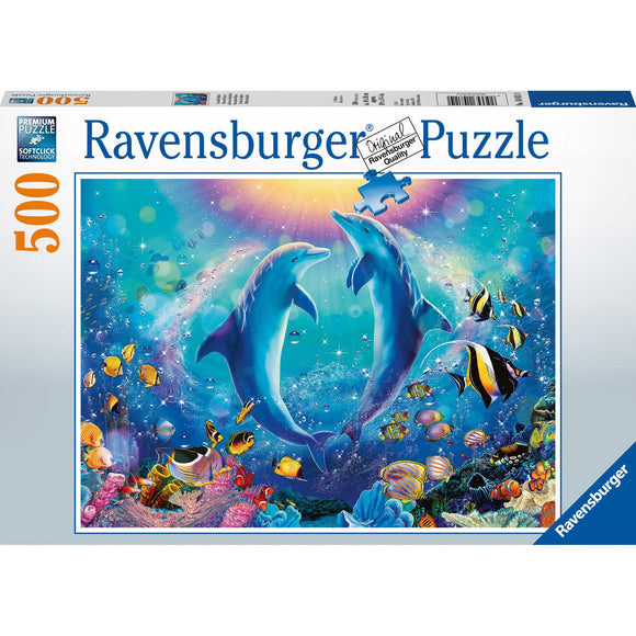 Ravensburger Dancing Dolphins Puzzle 500pc - AnimalKingdoms.co.nz
