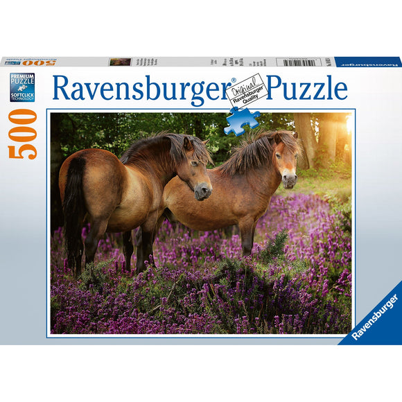Ravensburger Ponies in the Flowers Puzzle 500pc - AnimalKingdoms.co.nz
