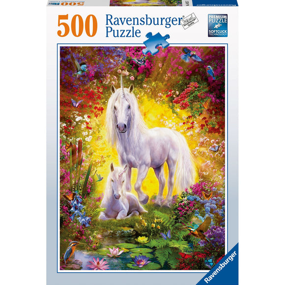 Ravensburger Unicorn and Foal Puzzle 500pc-RB14825-7-Animal Kingdoms Toy Store