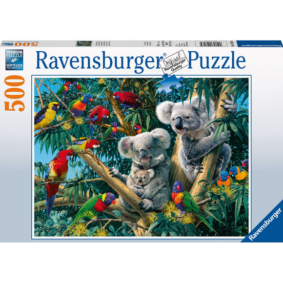 Ravensburger Koalas in a Tree Puzzle 500pc - AnimalKingdoms.co.nz