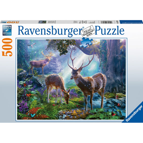 Ravensburger Deer in the Wild Puzzle 500pc-RB14828-8-Animal Kingdoms Toy Store