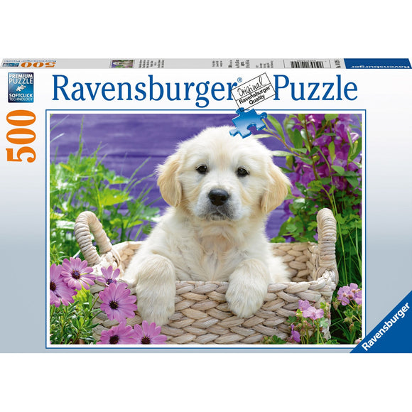 Ravensburger Sweet Golden Retriever Puzzle 500pc-RB14829-5-Animal Kingdoms Toy Store