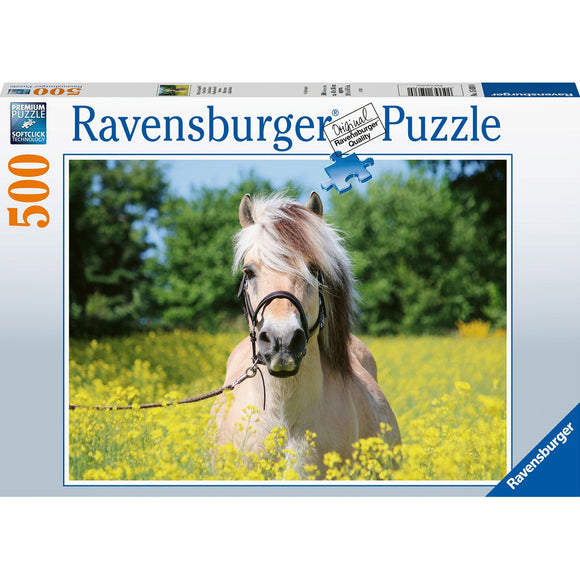 Ravensburger White Horse 500pc - AnimalKingdoms.co.nz