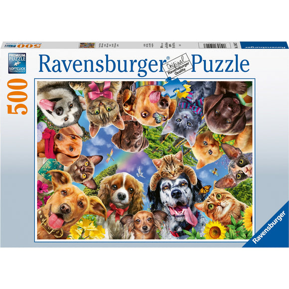 Ravensburger Animal Selfie 500pc - AnimalKingdoms.co.nz