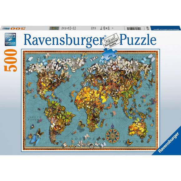 Ravensburger World of Butterflies 500pc - AnimalKingdoms.co.nz
