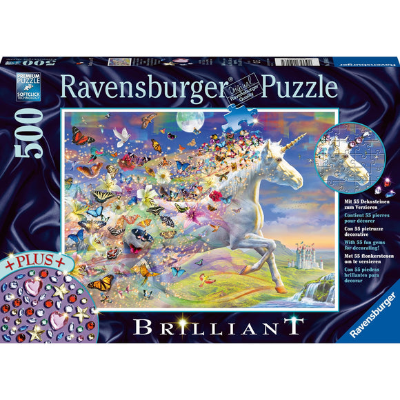 Ravensburger Unicorn and Butterflies 500pc-RB15046-5-Animal Kingdoms Toy Store