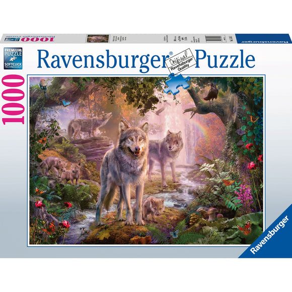 Ravensburger Summer Wolves Puzzle 1000pc-RB15185-1-Animal Kingdoms Toy Store