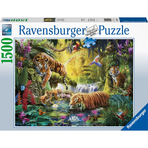 Ravensburger Tranquil Tigers 1500pc - AnimalKingdoms.co.nz