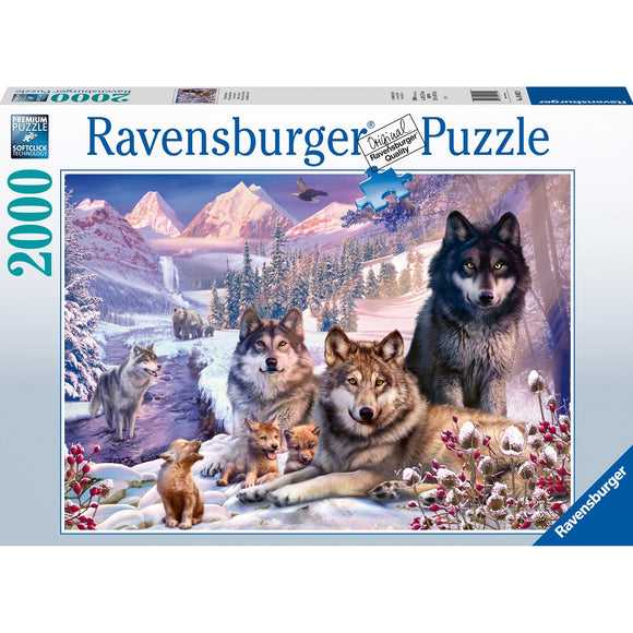 Ravensburger Wolves in the Snow 2000pc-RB16012-9-Animal Kingdoms Toy Store