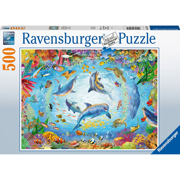 Ravensburger Cave Dive 500pc - AnimalKingdoms.co.nz