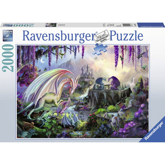 Ravensburger Dragon Valley Puzzle 2000pc-RB16707-4-Animal Kingdoms Toy Store