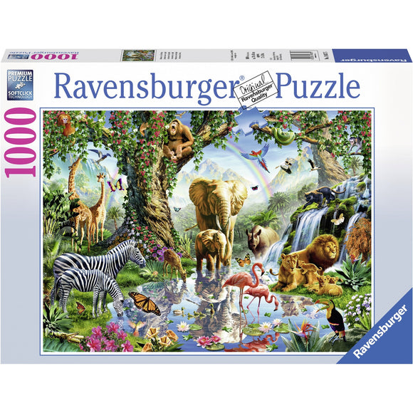 Ravensburger Adventures in the Jungle 1000pc - AnimalKingdoms.co.nz