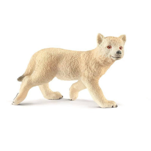 Schleich Arctic Wolf Cub-14804-Animal Kingdoms Toy Store