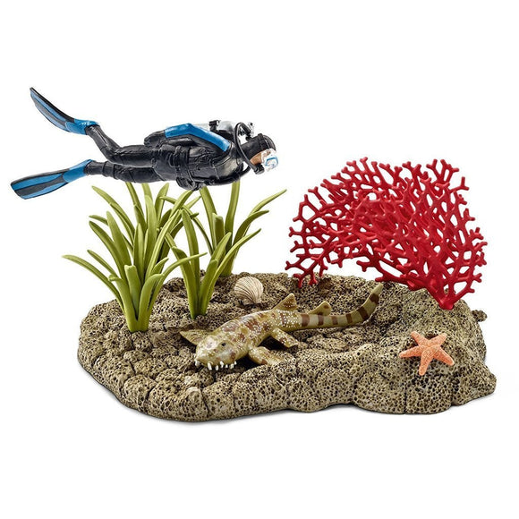 Schleich Coral Reef Diver - Wild Life - AnimalKingdoms.co.nz