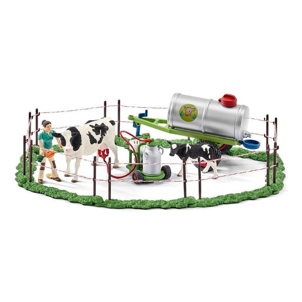 Schleich Cow Family on the Pasture-41428-Animal Kingdoms Toy Store