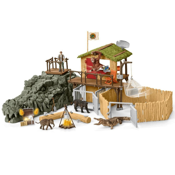 Schleich Croco Jungle Research Station - AnimalKingdoms.co.nz