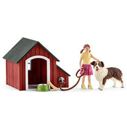 Schleich Dog Kennel Set - Farm Life - AnimalKingdoms.co.nz