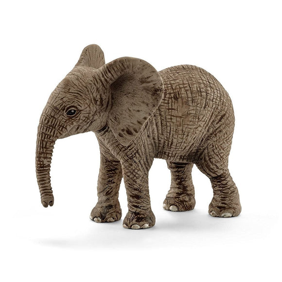 Schleich Elephant African Calf-14763-Animal Kingdoms Toy Store