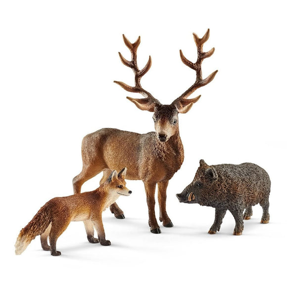 Schleich Forest Dwellers Pack European - Wild Life - AnimalKingdoms.co.nz