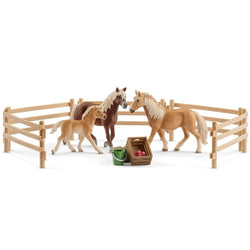 Schleich Haflinger Family in the Meadow Exclusive