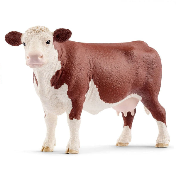 Schleich Hereford Cow-13867-Animal Kingdoms Toy Store
