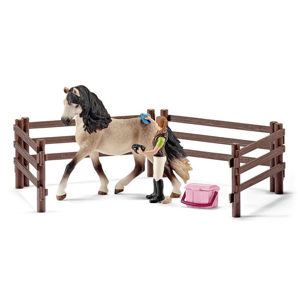 Schleich Horse Care Set Andalusian-42270-Animal Kingdoms Toy Store
