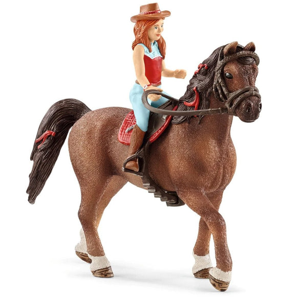 Schleich Horse Club Hannah & Cayenne-42514-Animal Kingdoms Toy Store