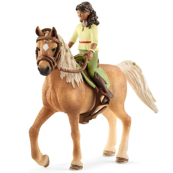 Schleich Horse Club Sarah & Mystery-42517-Animal Kingdoms Toy Store