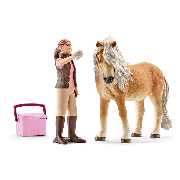 Schleich Horse Groom with Icelandic Pony Mare - AnimalKingdoms.co.nz