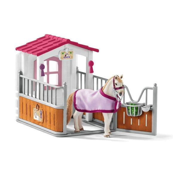 Schleich Horse Stall with Lusitano Mare - Horse Club - AnimalKingdoms.co.nz