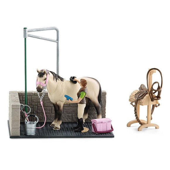 Schleich Horse Wash Area-42104-Animal Kingdoms Toy Store