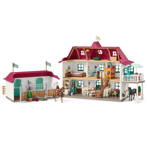 Schleich Large Horse Stable Playset-42416-Animal Kingdoms Toy Store