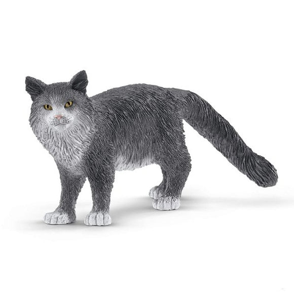 Schleich Maine Coon Cat-13893-Animal Kingdoms Toy Store