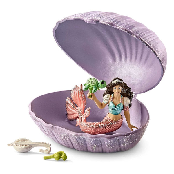 Schleich Mermaid with Baby Turtle in Shell-70562-Animal Kingdoms Toy Store