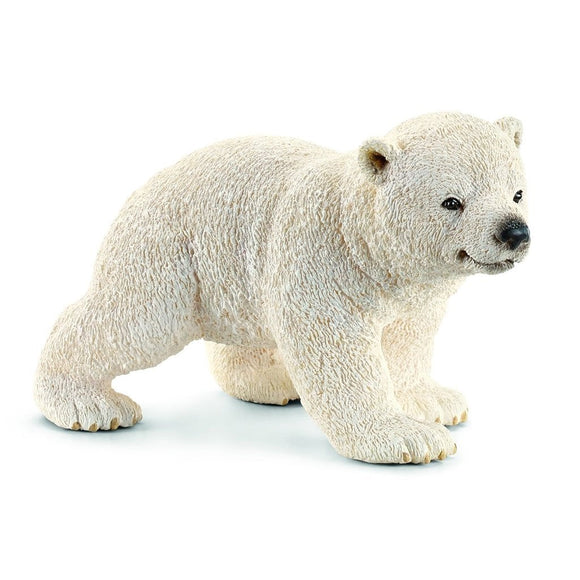 Schleich Polar Bear Cub walking - AnimalKingdoms.co.nz