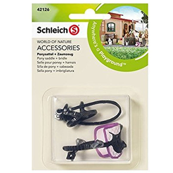 Schleich Pony Saddle and Bridle - Horse Club - AnimalKingdoms.co.nz