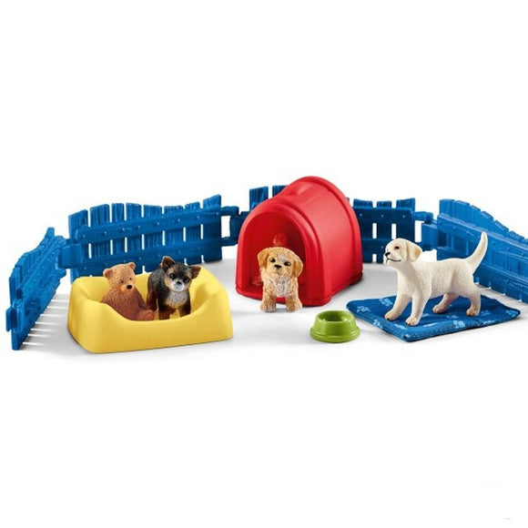 Schleich Puppy Pen-42480-Animal Kingdoms Toy Store