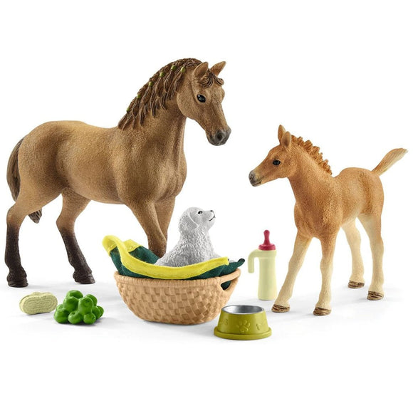 Schleich Sarah's Baby Animal Care-42432-Animal Kingdoms Toy Store