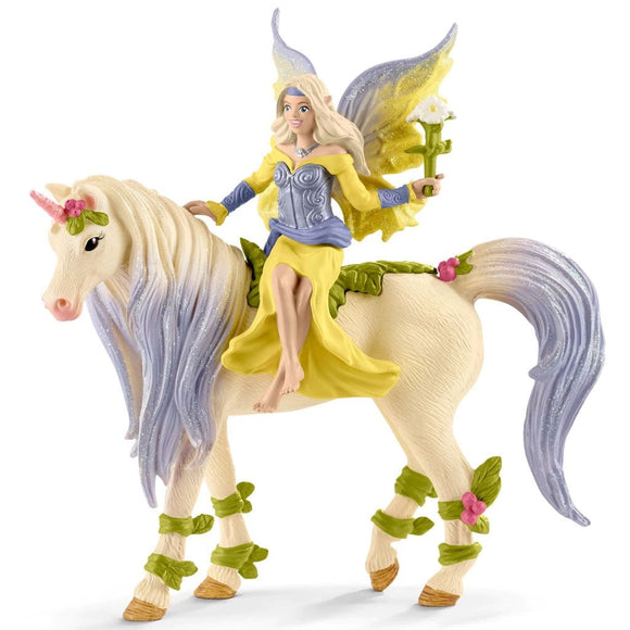 Schleich Sera with Blossom Unicorn-70565-Animal Kingdoms Toy Store
