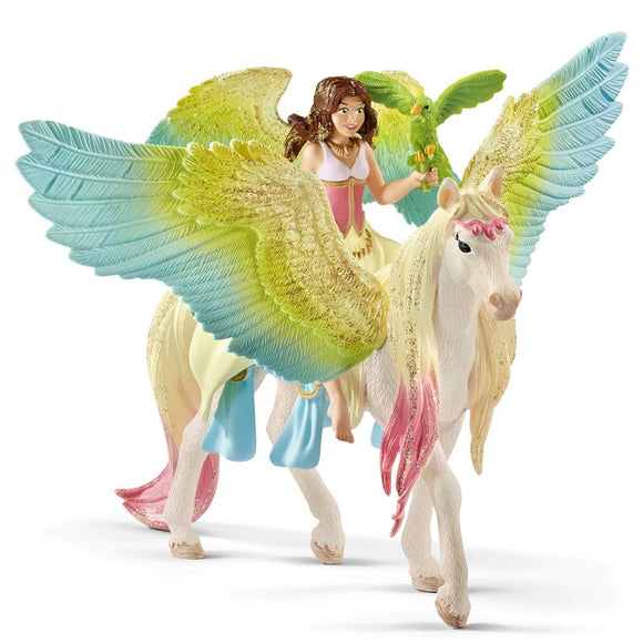 Schleich Surah with Glitter Unicorn - AnimalKingdoms.co.nz