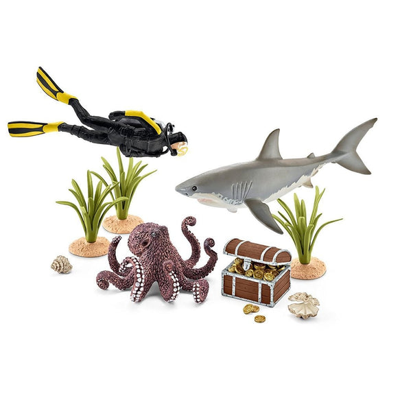 Schleich Treasure Hunt Diver-42329-Animal Kingdoms Toy Store