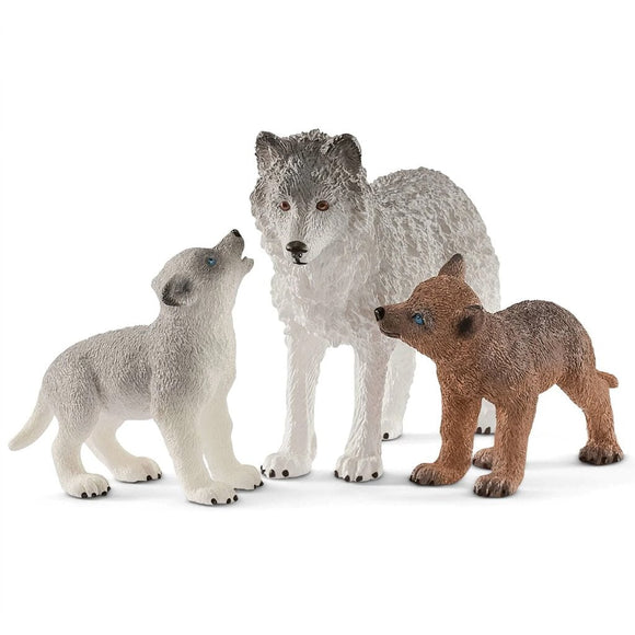 Schleich Wolf Mother with Pups - Wild Life - AnimalKingdoms.co.nz
