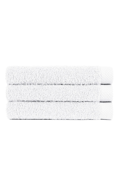 100% Cotton Towels (ht50) - White | Bonsoir of London