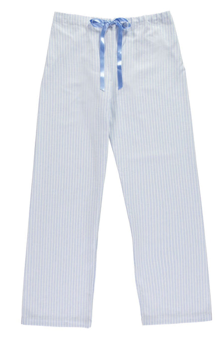 Brushed Pastel Pyjama Trousers (bltf) - Blue Stripe | Bonsoir of London