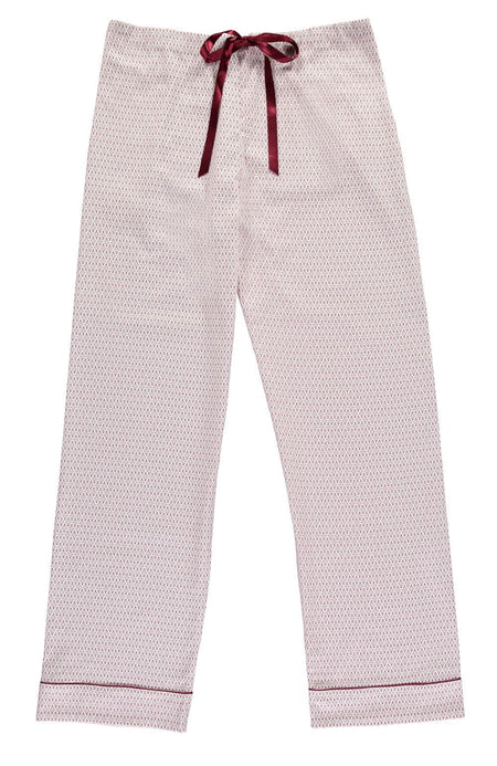 Lightly Brushed Cotton Pyjama Ttrousers (hltf) - Berry Snowflake